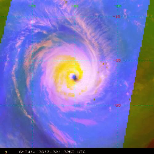 Cyclone tropicale très intense Bruce bien spiralé