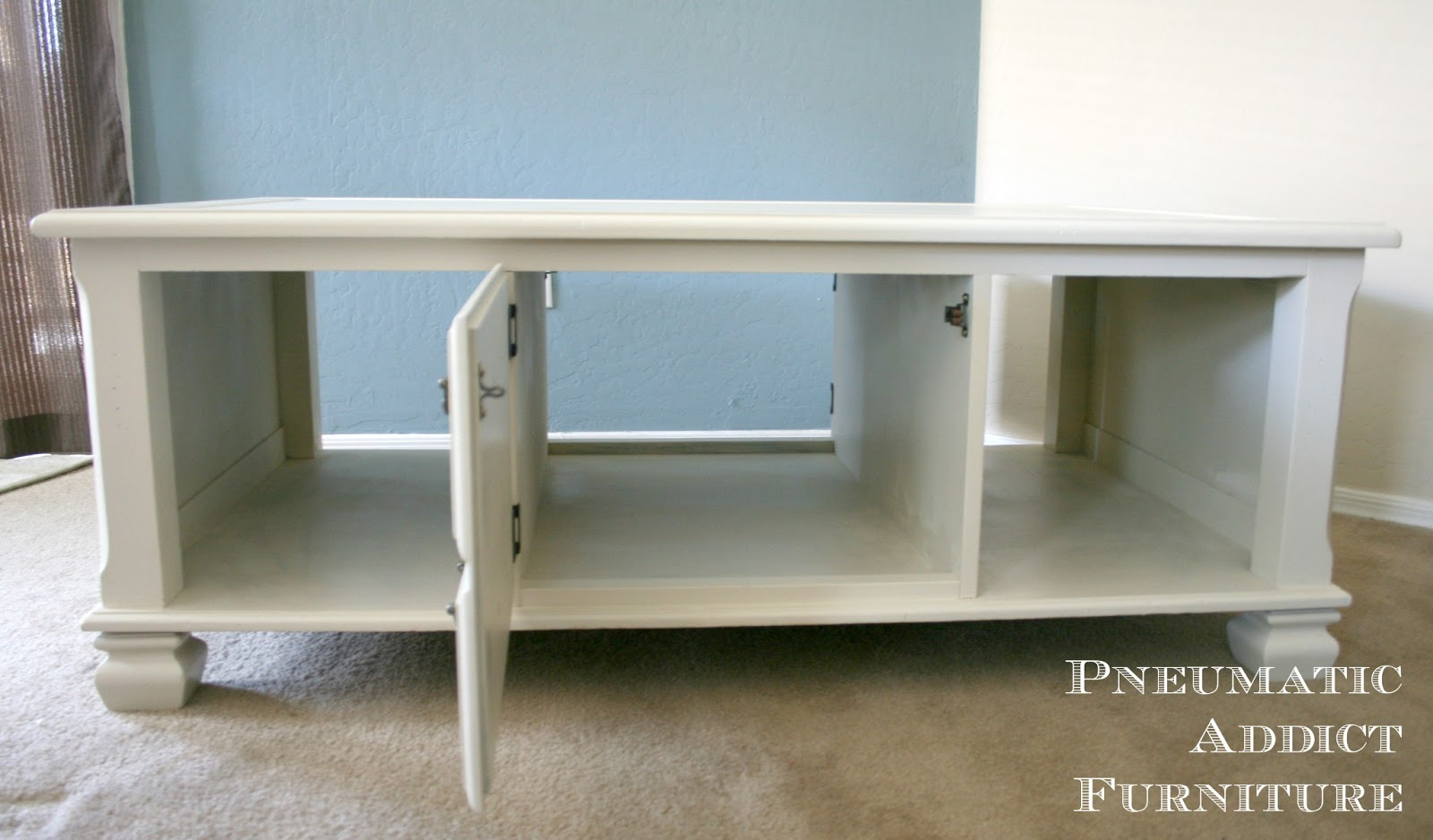 Pneumatic Addict Cottage Style Coffee Table Transformation