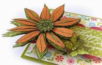 Stamped 3d flower