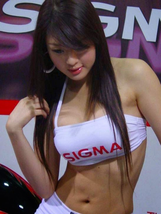 hwang mi hee sexy car show pics 03