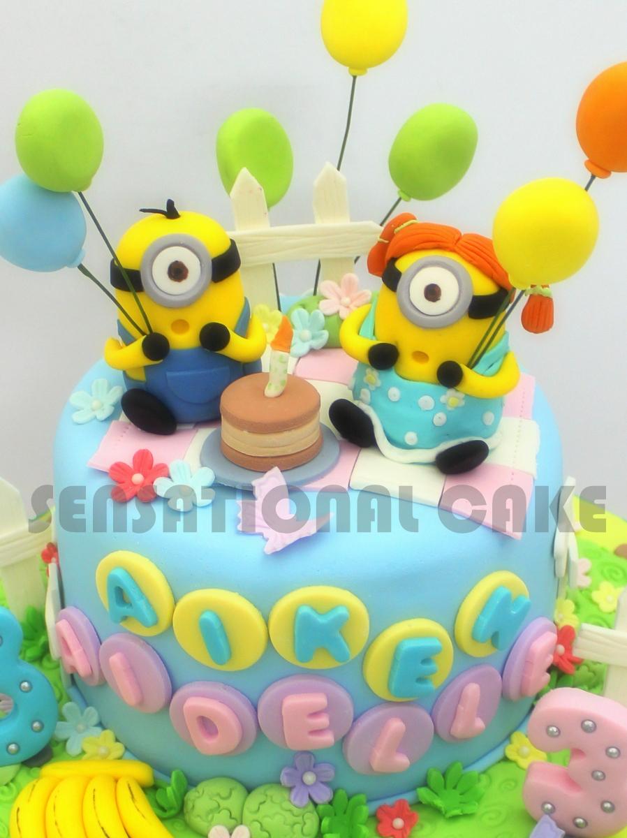 The Sensational Cakes Minions Sugarcraft Birthday Cake Couple