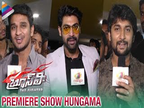 Rana, Nani & Nikhil at Bruce Lee The Fighter Movie | Premiere Show Hungama