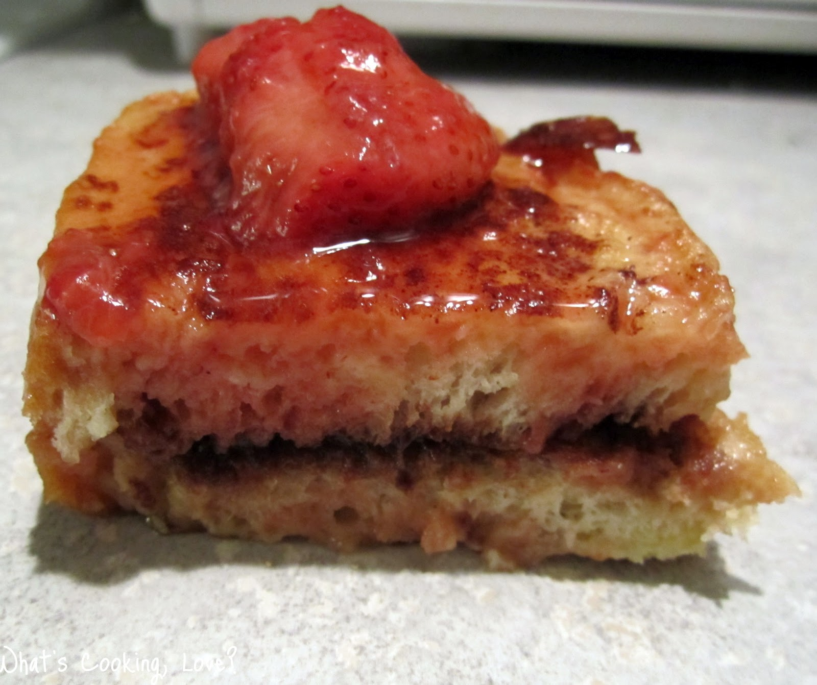 Nutella Stuffed French Toast with Strawberry Syrup - Whats Cooking ...