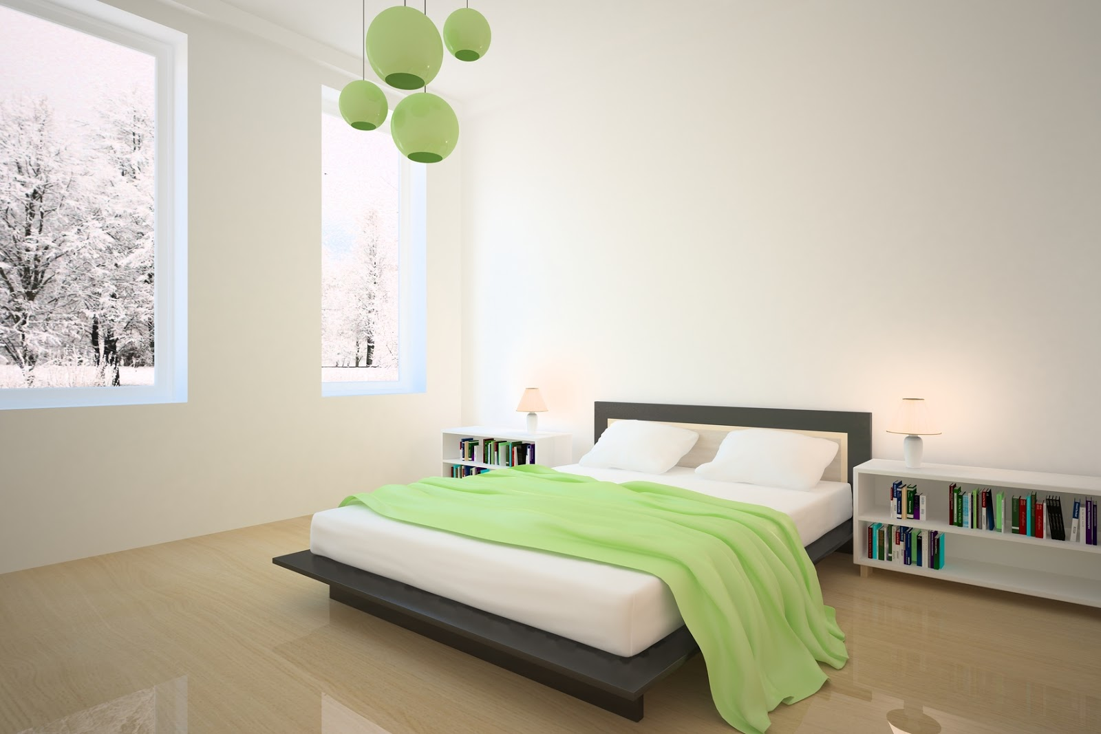 Inspiring bedrooms design for Green bedroom design