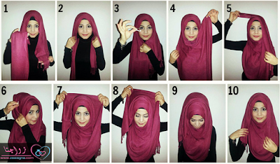 Contoh Cara Memakai Jilbab Cantik Trendy Terbaru