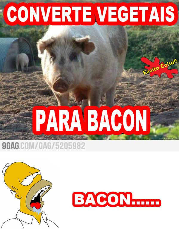 porco, bacon, vegetais, homer simpson, eeeita coisa