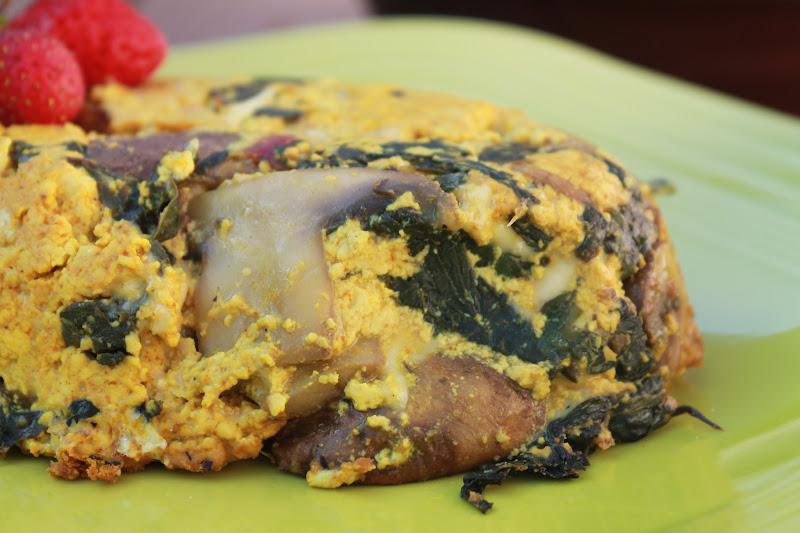 Mushroom and Swiss Chard Frittata | My Darling Vegan