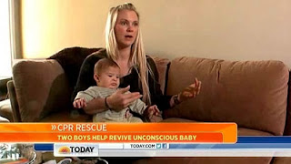 Kids Help Mom Save Baby's Life With CPR