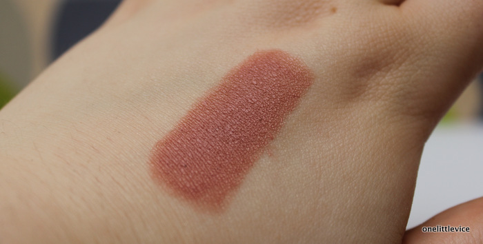 one little vice beauty blog: organic nude lipstick swatch