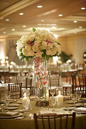 tall red wedding centerpieces