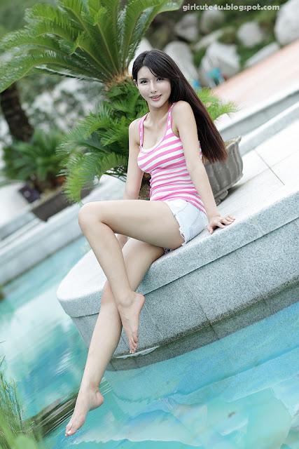 4 Cha Sun Hwa-White and Pink-very cute asian girl-girlcute4u.blogspot.com