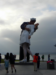 Unconditional Surrender statue in the San Diego Harbor 