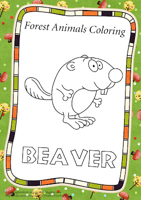 beaver coloring