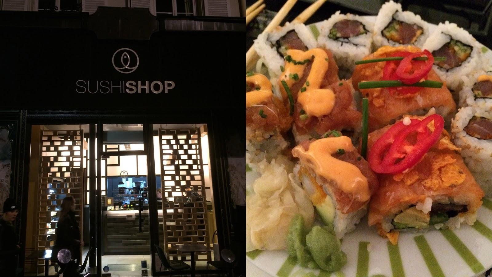 Sushi shop Paris rock n roll