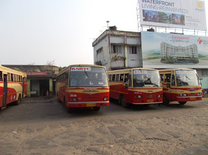 "Thursday(10-3-2016) :-""KSRTC"" bus depot in Kottayam."
