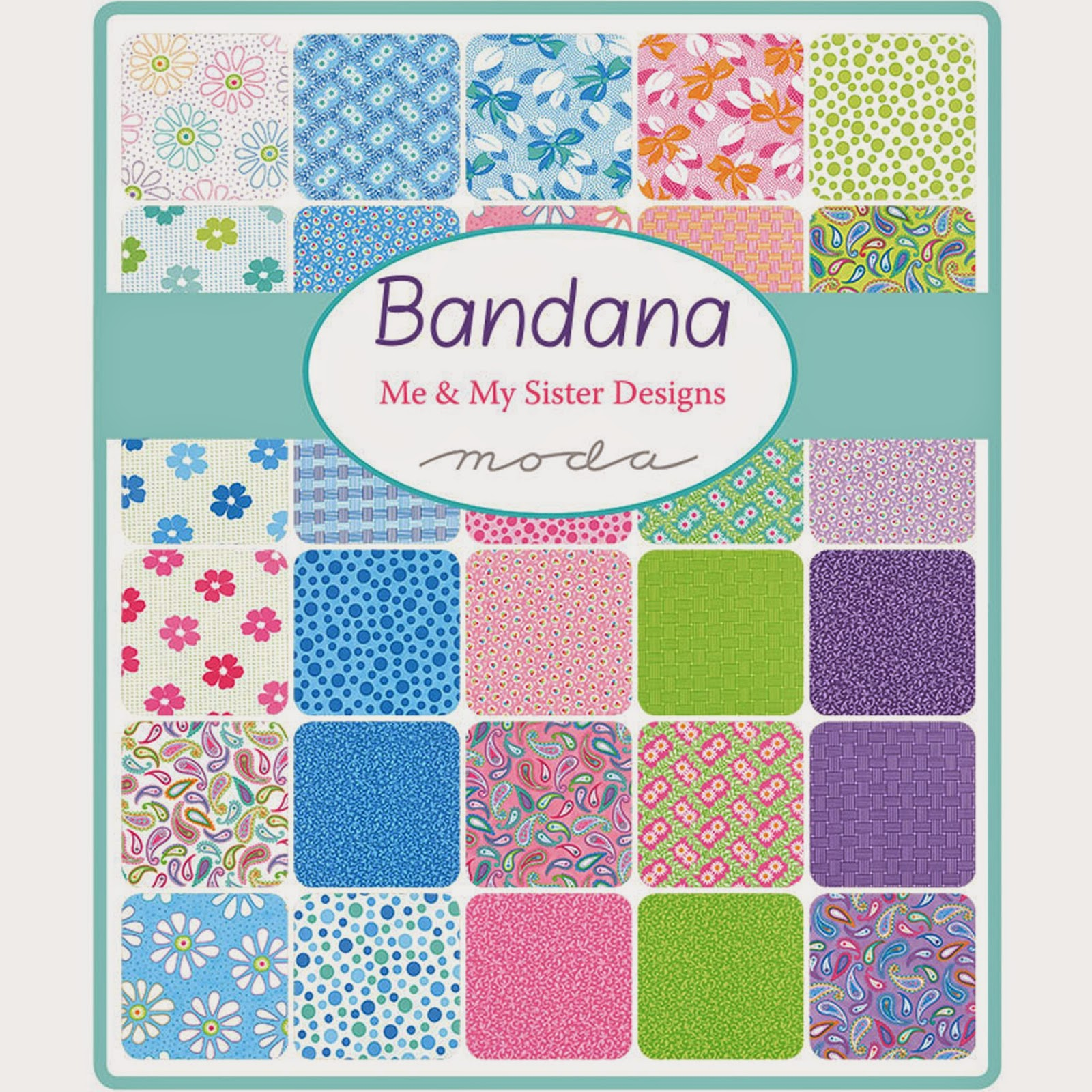 Moda BANDANA Fabric by Me & My Sister Designs for Moda Fabrics
