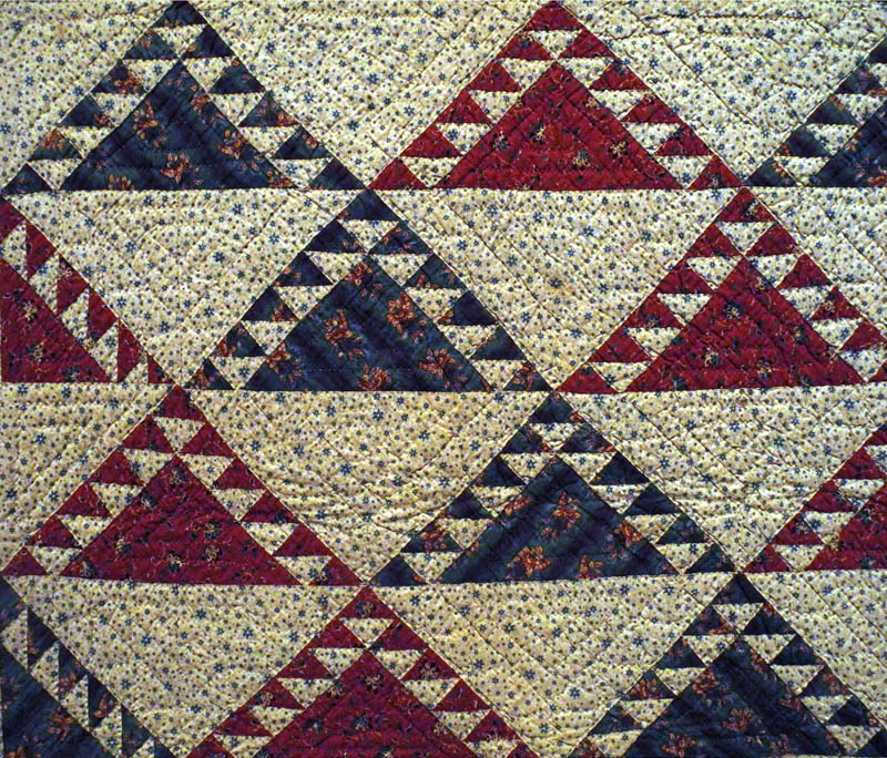 Studio and Garden: Pattern: Quilts at the Brooklyn Museum : delectable mountain quilt - Adamdwight.com