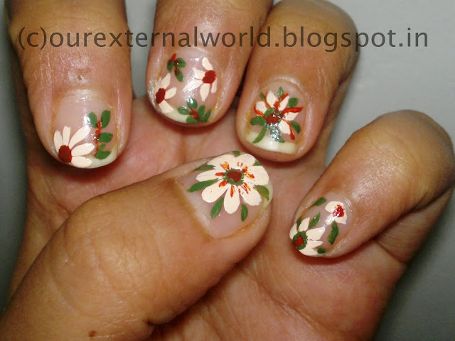 acrylic nail art hot to paint your nails i used camlin acrylic paints