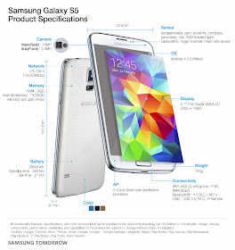 Samsung Galaxy S5 product specs official