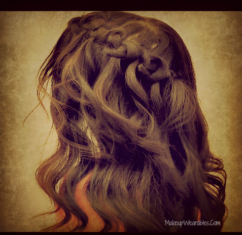Easy Knotted Hairstyles, Waterfall Braid Knots with Curls for Medium Long Hair Half-Up Half-Down 2012 | Wedding, Casual/Everyday, Prom Video