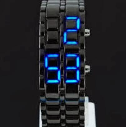 Jam Tangan Iron Samurai Black Led Biru Murah