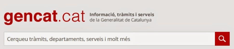 WEB GENERALITAT DE CATALUNYA