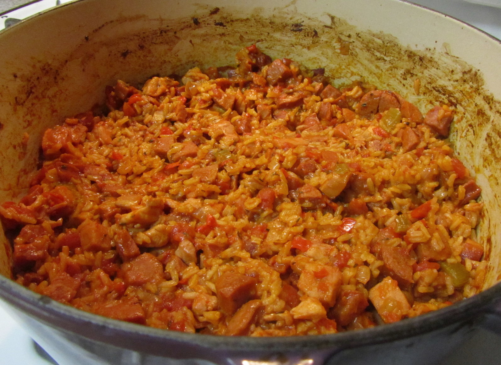 Alosha's Kitchen: Chicken and Sausage Jambalaya