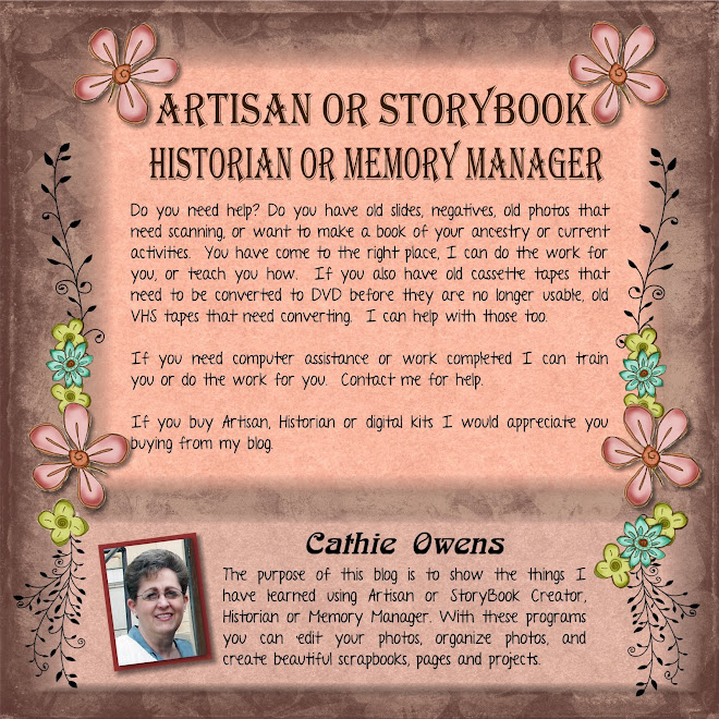 StoryBook, Artisan, Memory Manager, Historian Helps and Hints