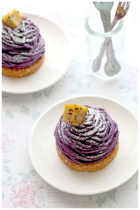 Foodagraphy. By Chelle.: Purple Sweet Potato Mont Blanc (紅いも ...