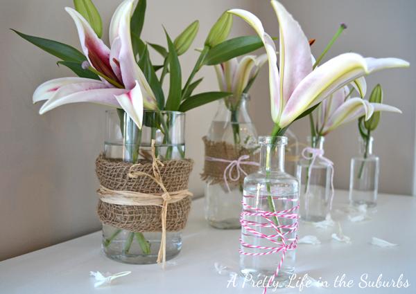 Simple Spring Flower Vases