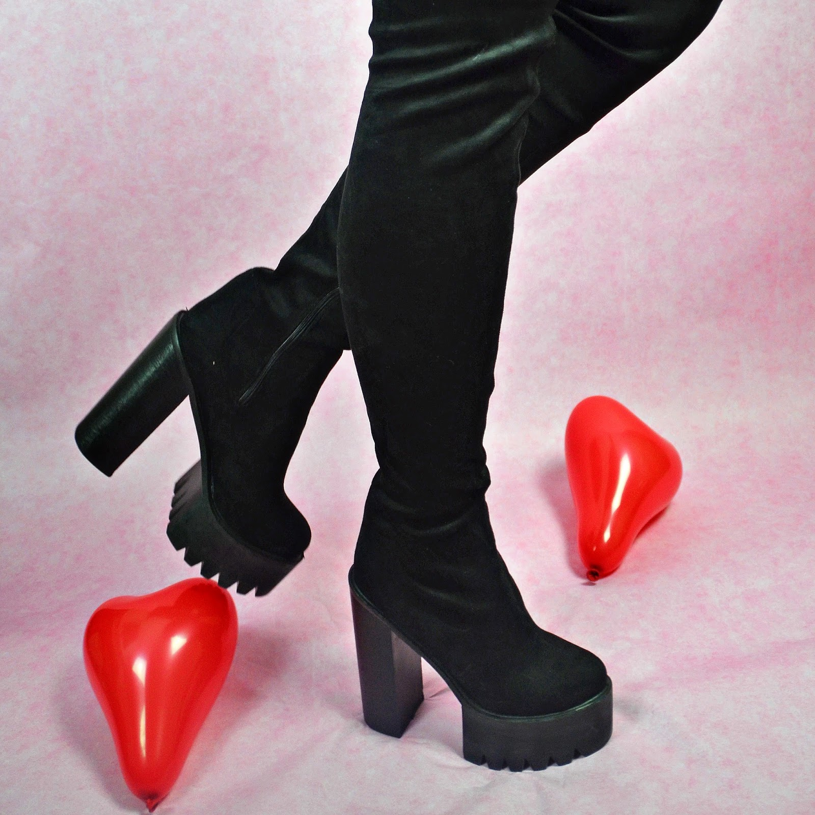 Sole Affair Thigh Knee High Boots, Valentines Day, Review Blog