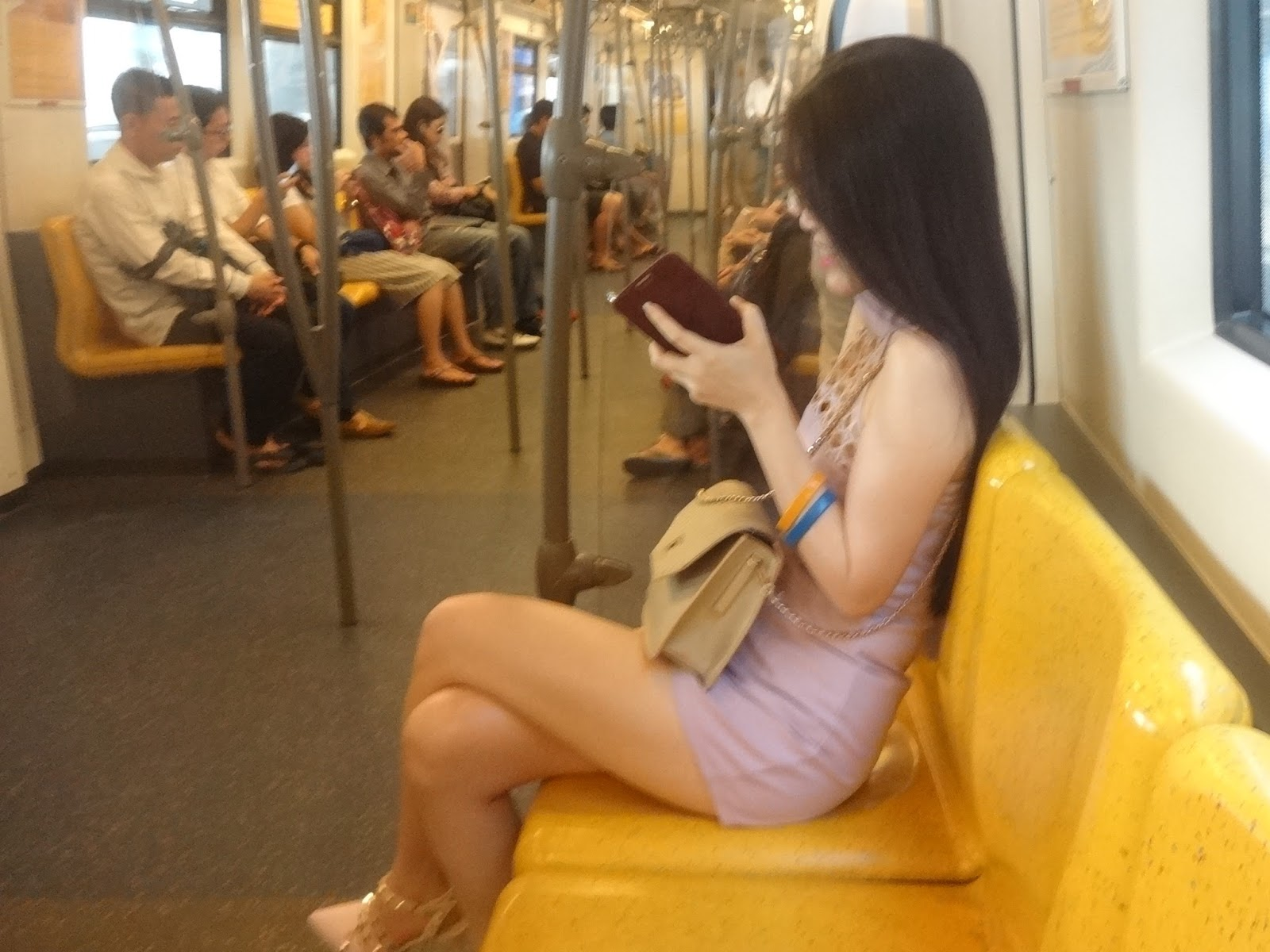 in public wife My sexy dresses