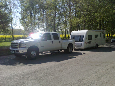 European caravan towing service