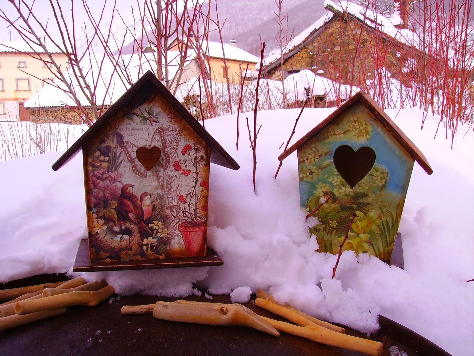 Retazos de madera casitas de pajaros - Casita para pajaros ...