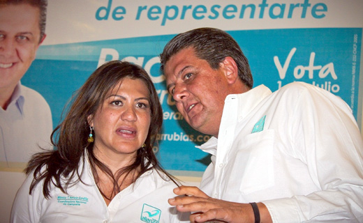Arriola Gordillo en Cholula con Paco Covarrubias