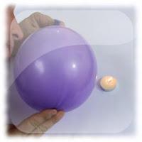 Soplar la vela a través de un objeto solido