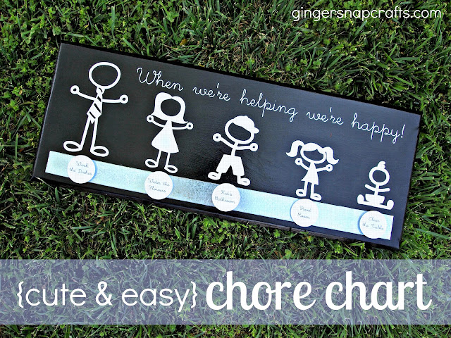 Super cute and easy Chore Chart from Ginger Snap Crafts! Great idea to help the kids!