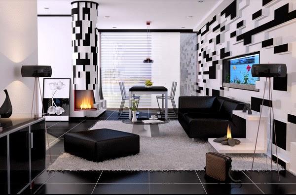 Décoration Salon En Noir Et Blanc