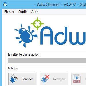 capture d'écran de AdwCleaner (mai 2014)