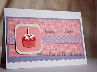 Handmade Muffin birthday card