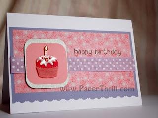 Handmade Muffin birthday card