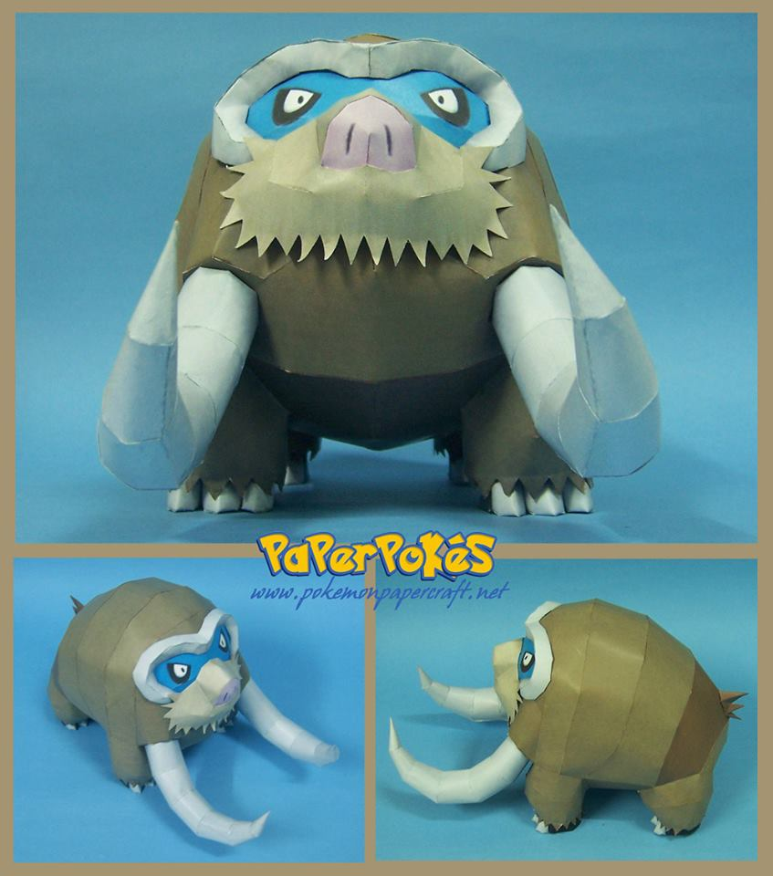 POkemon Mamoswine Papercraft