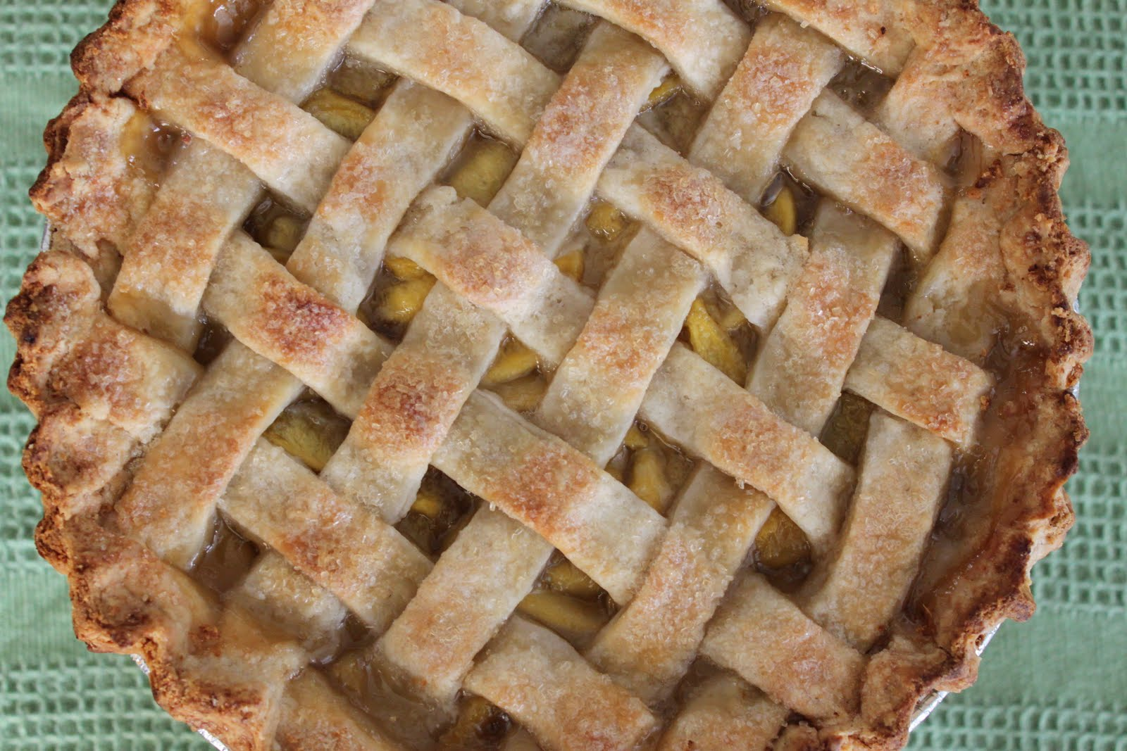 Peach Lattice Pie - The Little Epicurean