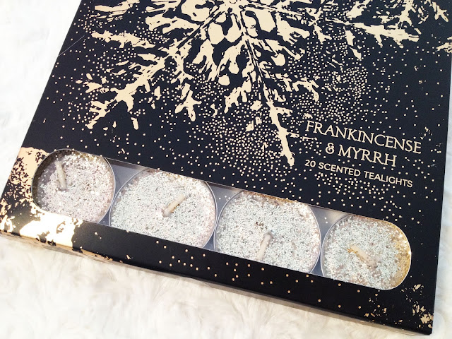 http://www.marksandspencer.com/20-frankincense-and-myrrh-glitter-scented-tealights/p/p22337480