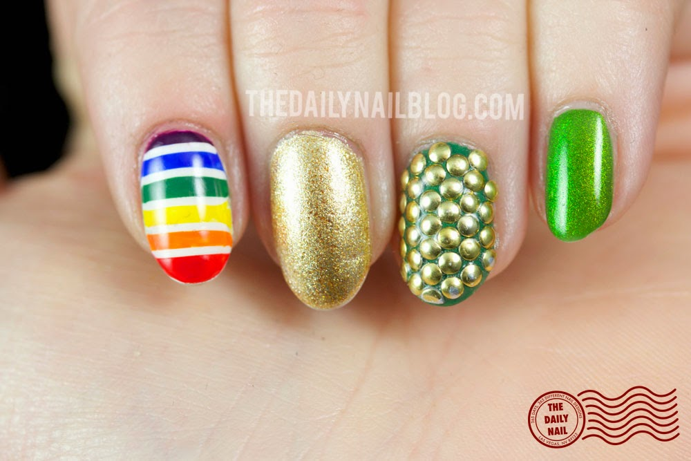 Luck of the Not So Irish manicure 2