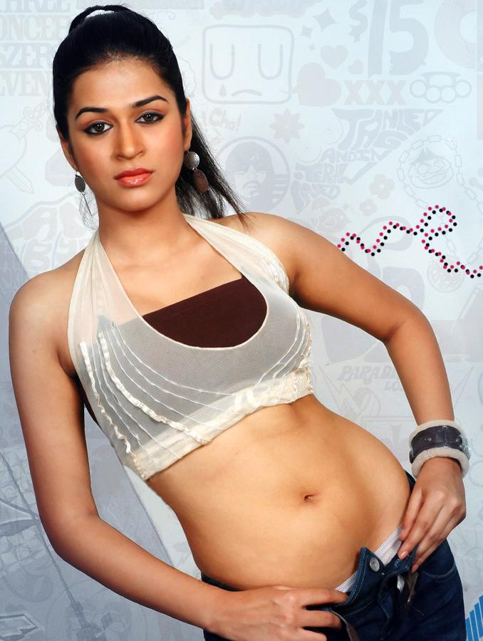 Glorious and winning Shraddha das hot deep navel show stills
