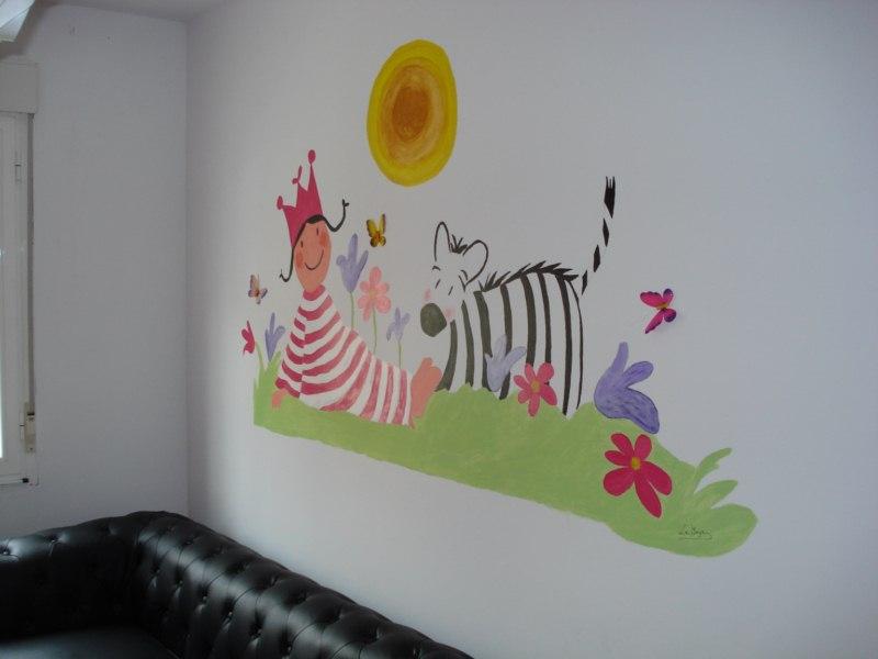 El mural de la habitaci n de nora - Mural para habitacion ...