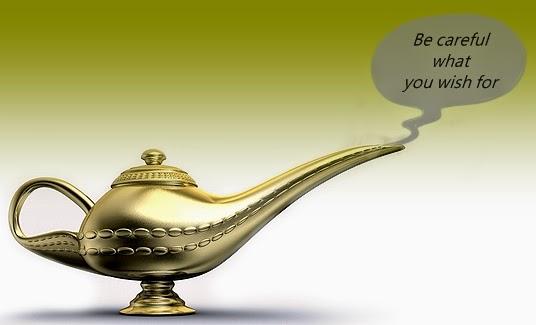 Genie lamp wish