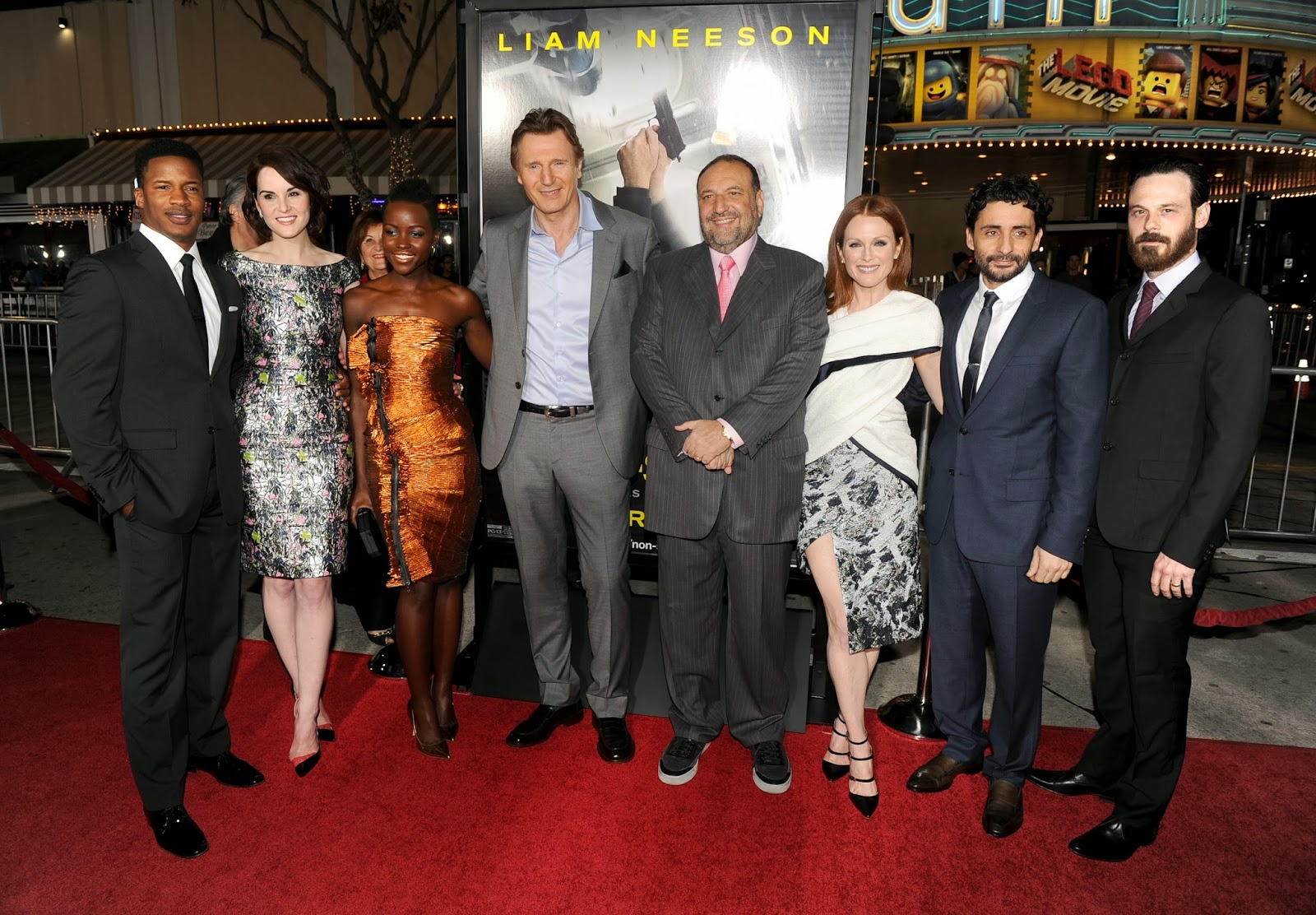 Non-Stop world Premiere with Michelle Dockery, Liam Neeson, Julianne Moore: HD Pictures