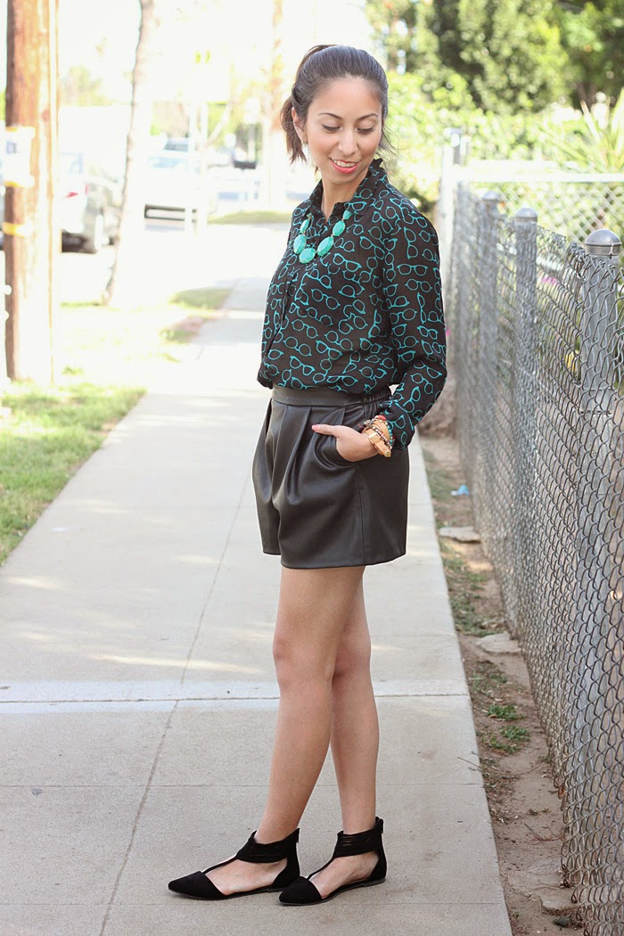 dressing up leather shorts